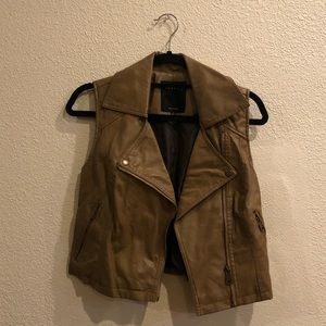 Therapy Tan Leather Vest